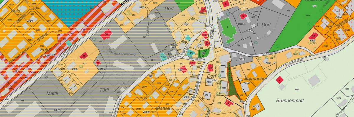 Cadastral surveying data are available in analogue as well as digital form.