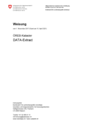 Weisung «ÖREB-Kataster – DATA-Extract»